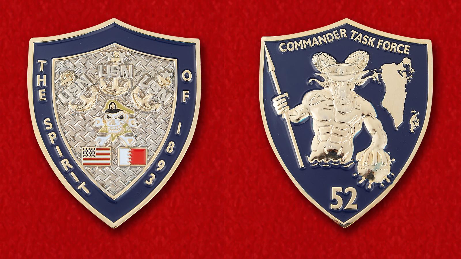 Челлендж коин командира 52-го оперативного соединения ВМС США