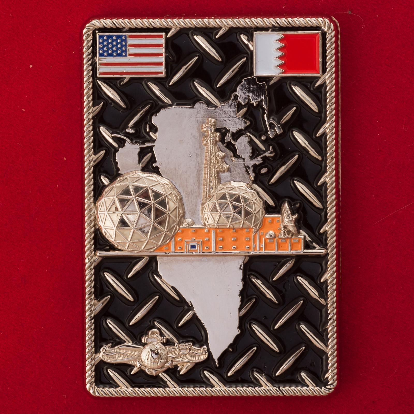 Челлендж коин командного состава Морской компьютерной и навигационной станции связи ВМС США в Бахрейне