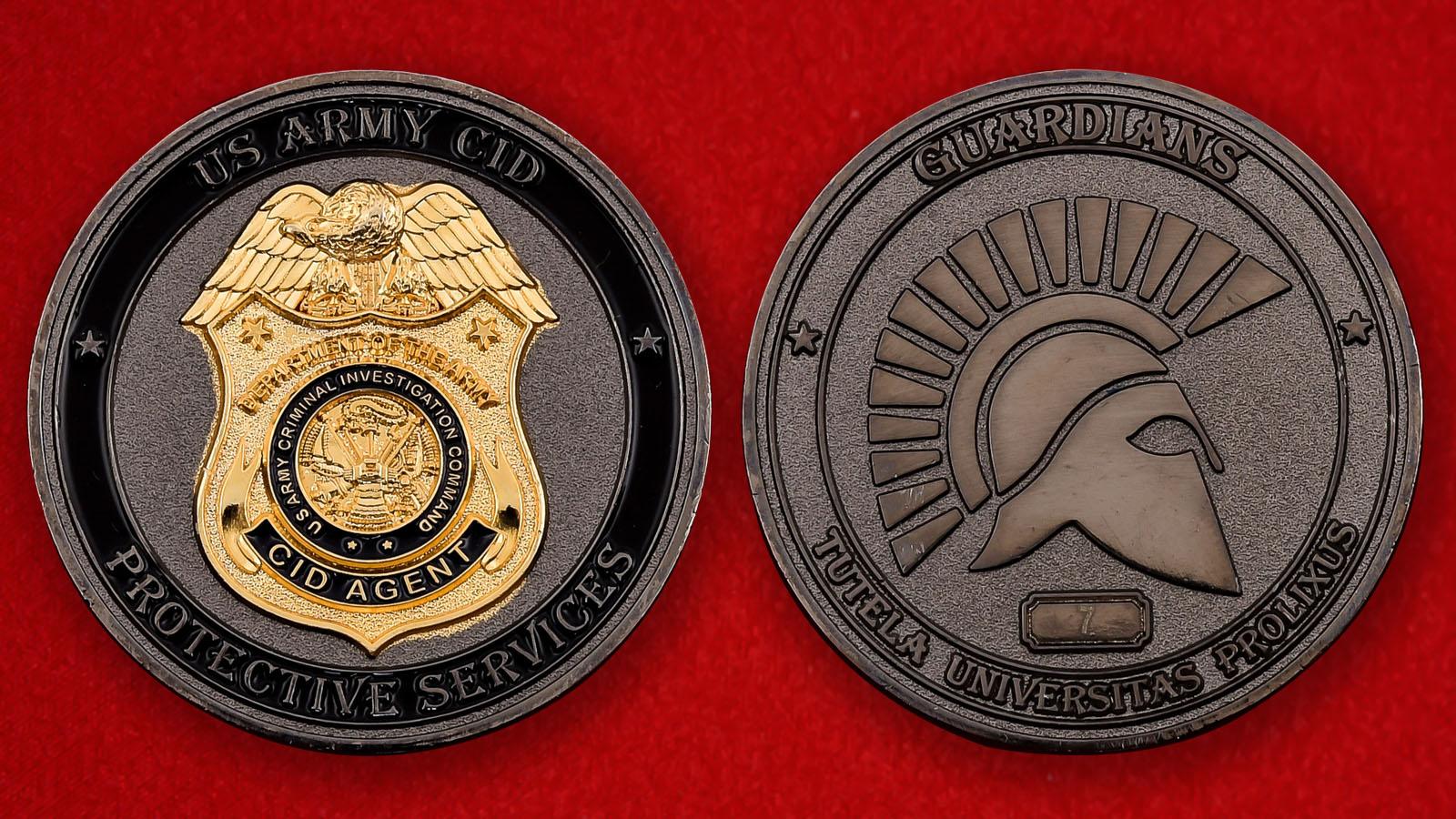 """Челлендж коин """"Командование уголовных расследований Сухопутных войск США"""""""