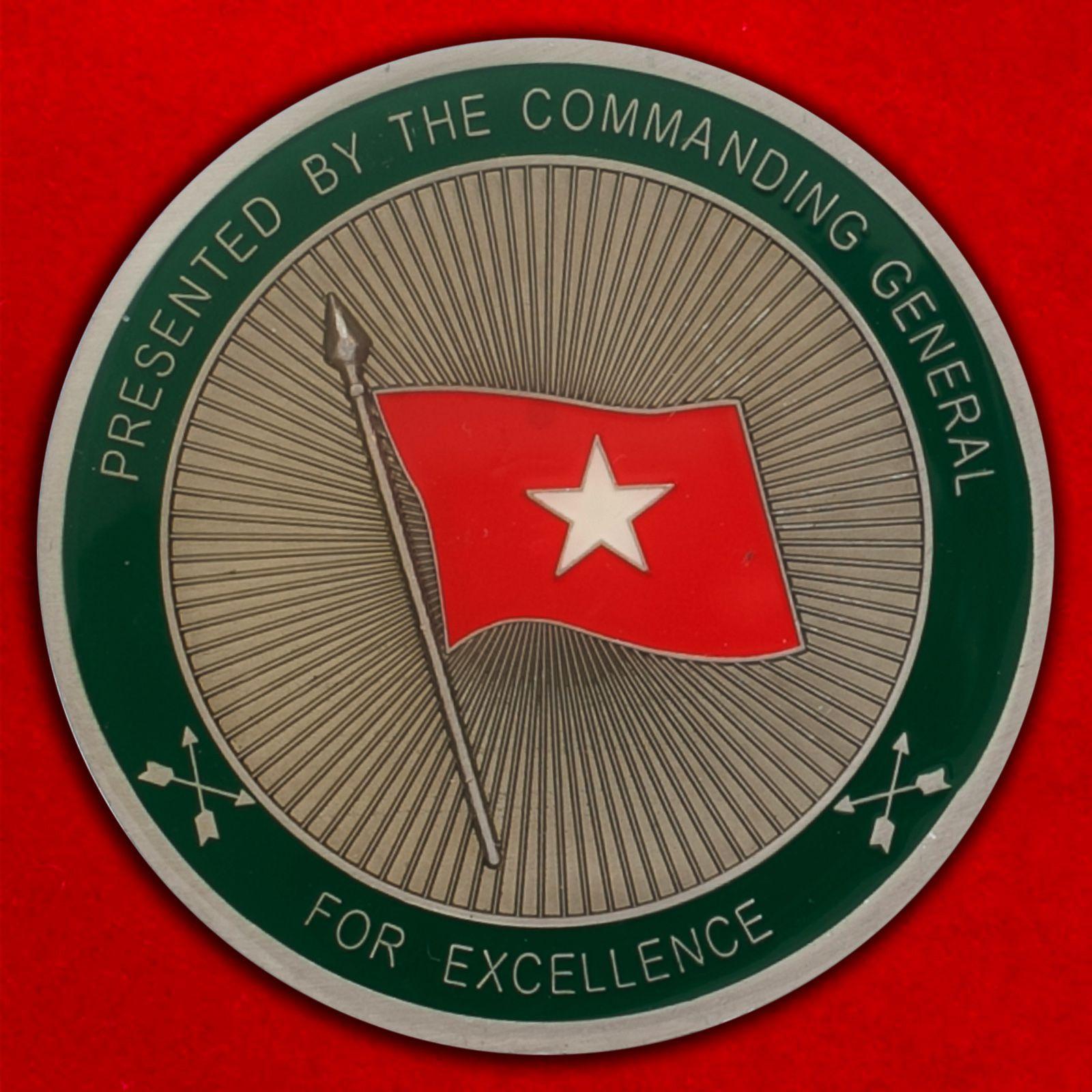 """Челлендж коин """"Командованию специальных операций (ВДВ) от Центрального командования Армии США"""""""