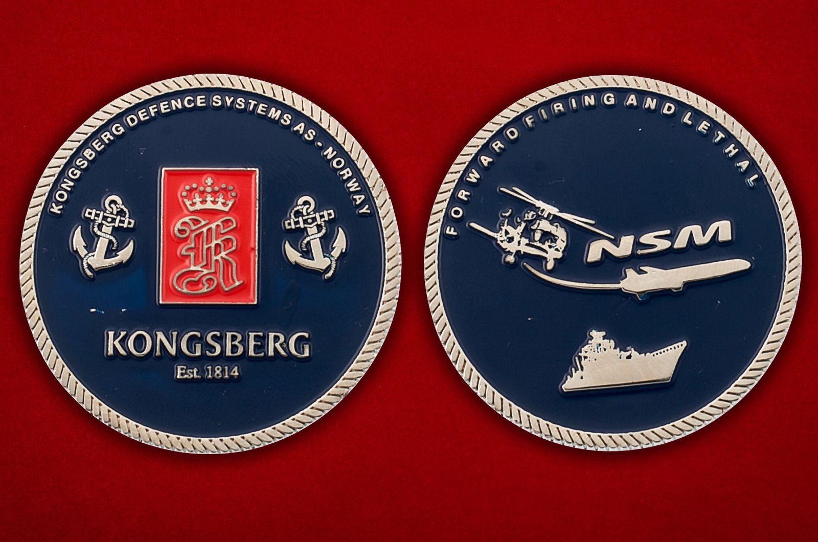 Челлендж коин компании Kongsberg Defence - аверс и реверс