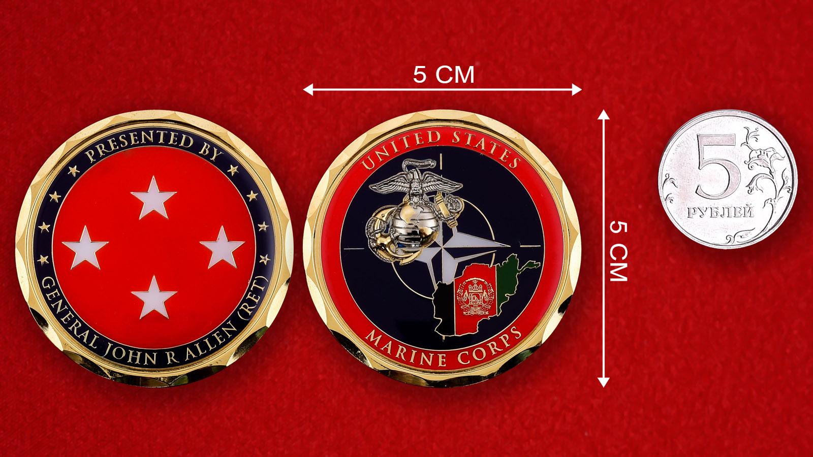 "Челлендж коин Корпуса Морской пехоты США ""От генерала Джона Р. Аллена"""