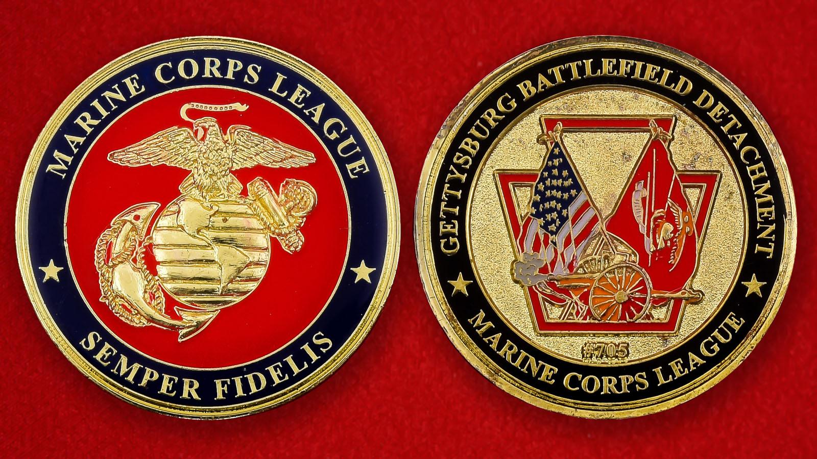 "Челлендж коин Корпуса морской пехоты США ""Почетный караул поля боя при Геттисберге"""