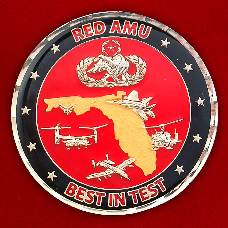 """Челлендж коин """"Красной группы"""" 46-й авиаремонтной эскадрильи ВВС США"""