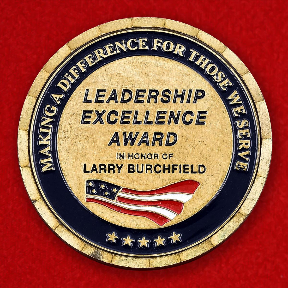 "Челлендж коин ""Ларри Бейчферлду от руководства Excellence Avard"""