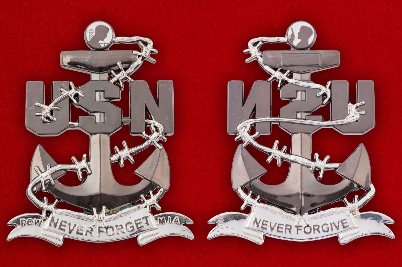 Челлендж коин Лиги семей военнопленных ВМС США - аверс и реверс