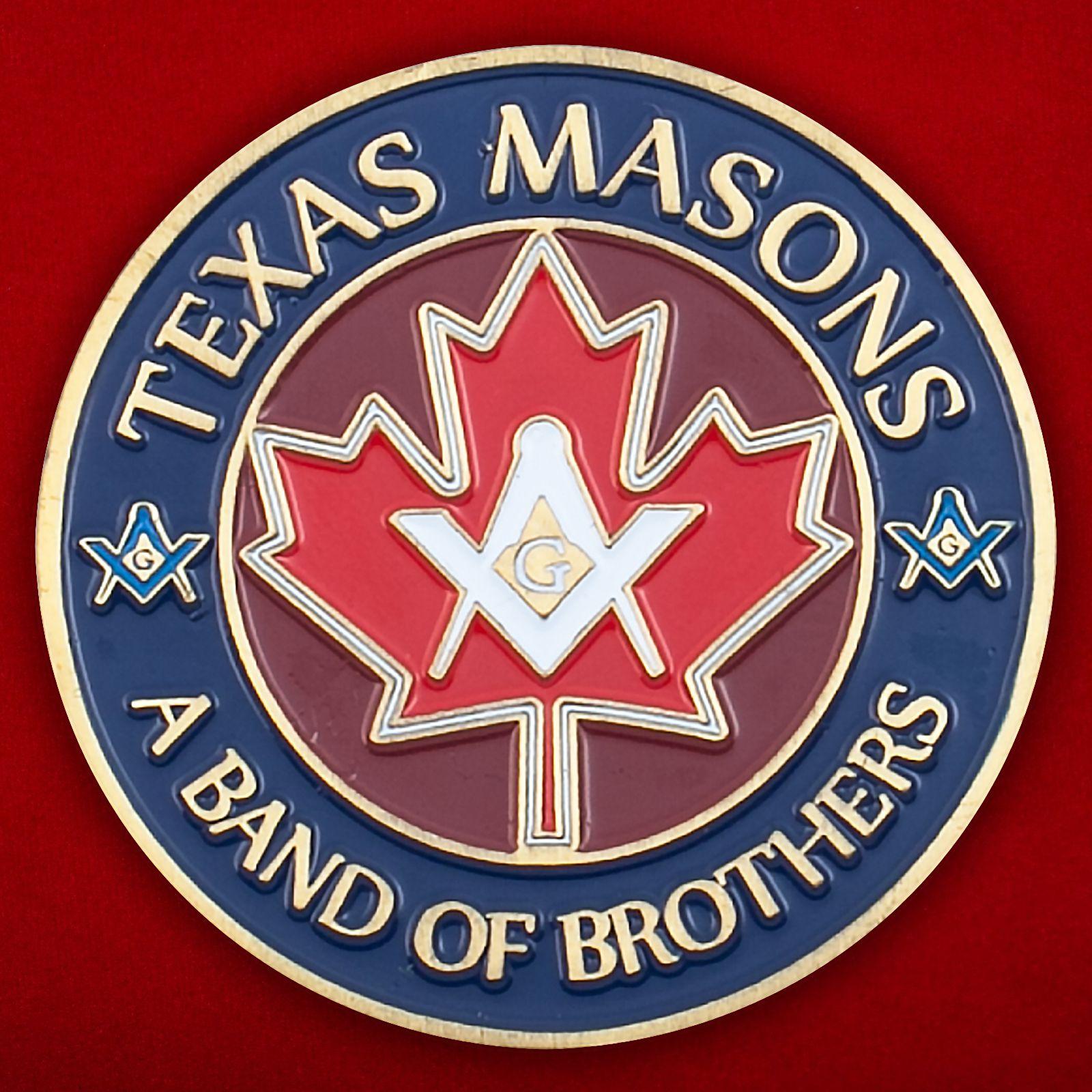 Челлендж коин масонов Техаса