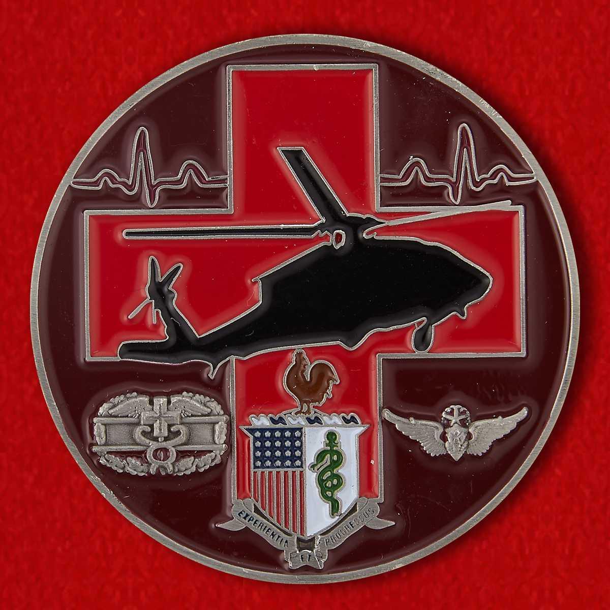 Челлендж коин медицинской программы неотложной интенсивной терапии и реанимации Объединенной базы Форт Сэм ВС США
