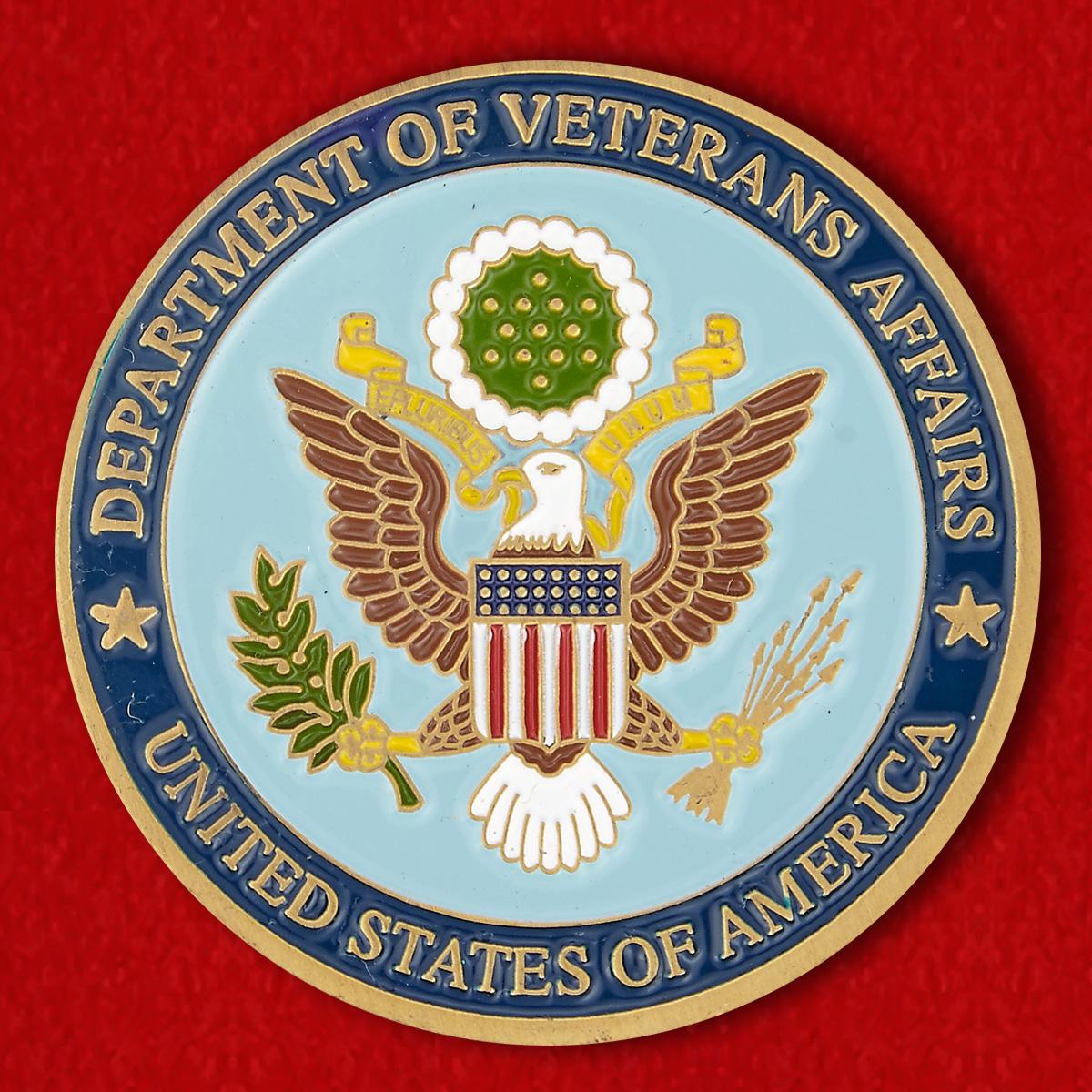 """Челлендж коин """"Министерство по делам ветеранов США"""""""