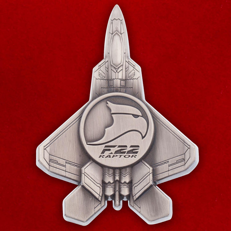 """Челлендж коин """"Многоцелевой истребитель ВВС США F-22 Raptor"""""""