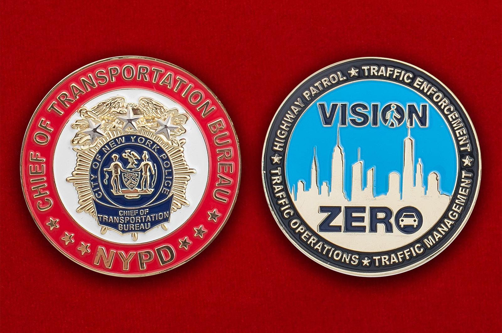 Челлендж коин начальника Бюро по доставке задержанных Управления полиции Нью-Йорка