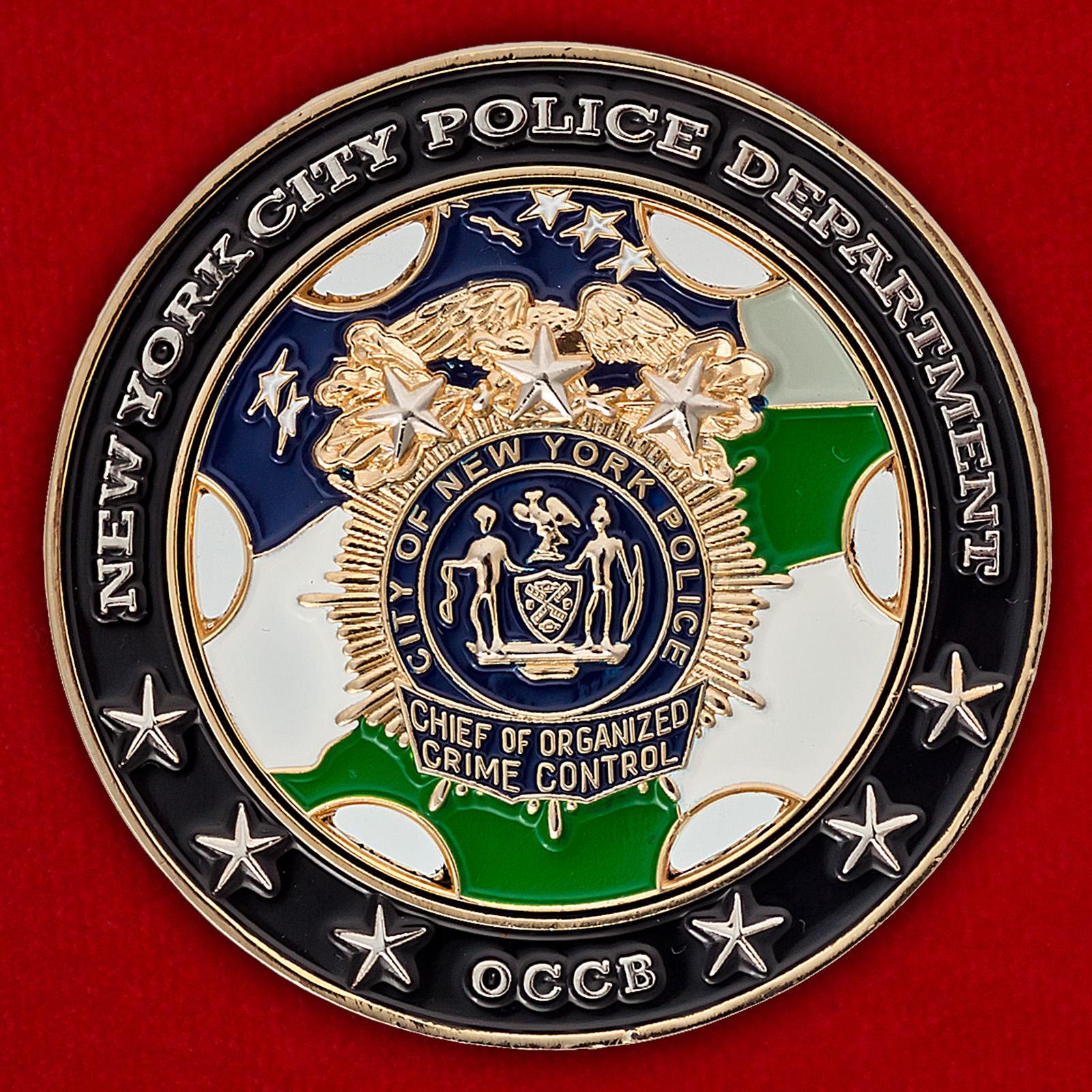 Челлендж коин начальника отдела по борьбе с организованной преступностью полиции Нью-Йорка
