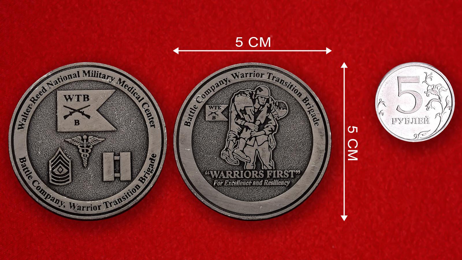 Челлендж коин Национального Военного медицинского центра имени Уолтера Рида