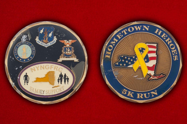 Челлендж коин Национальной гвардии штата Нью-Йорк - аверс и реверс