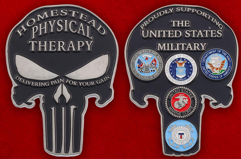 Челлендж коин Общества поддержки Вооруженных сил США - аверс и реверс
