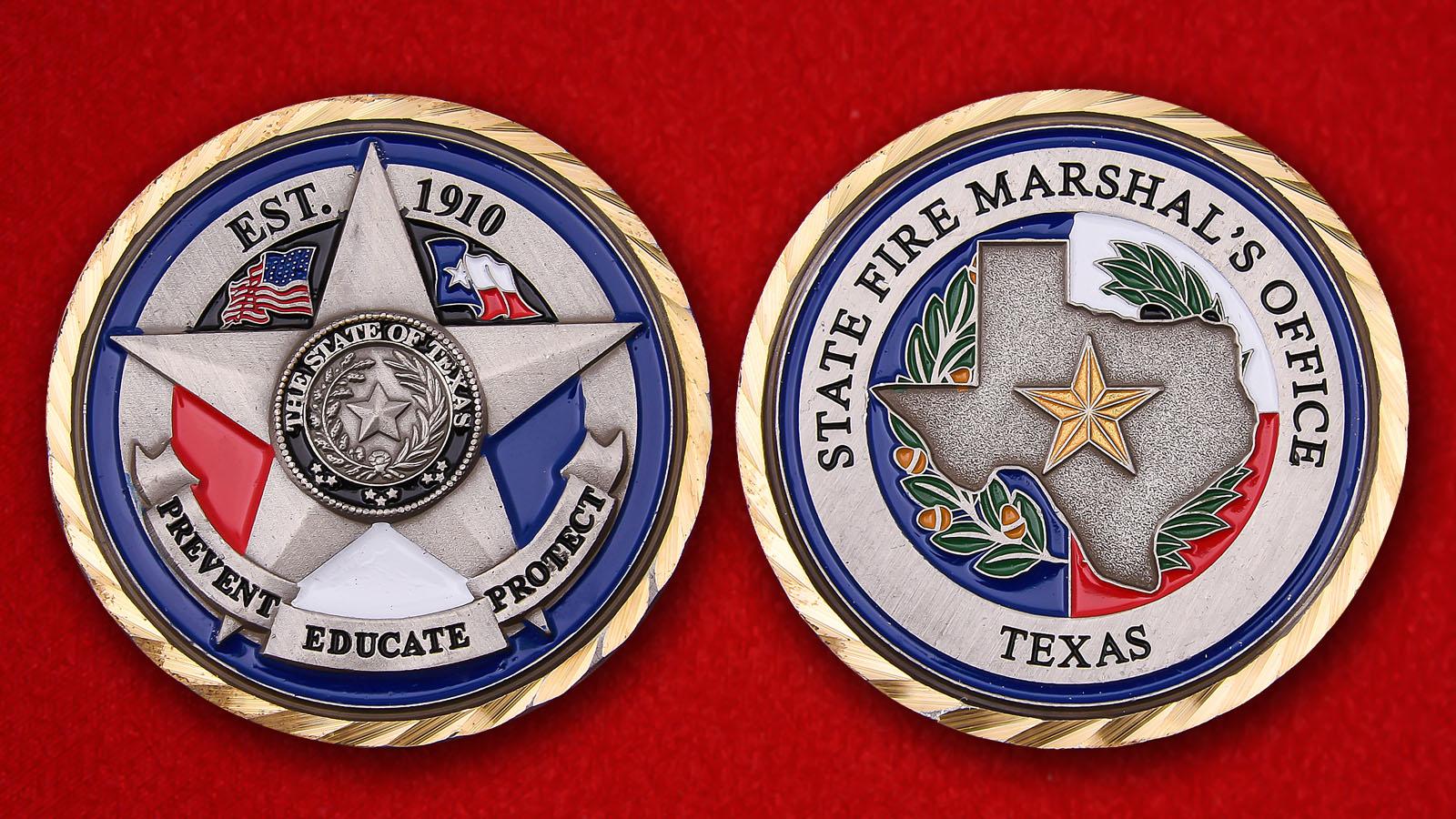 "Челлендж коин Челлендж коин Госпожарнадзора штата Техас штата Техас"" - аверс и реверс"