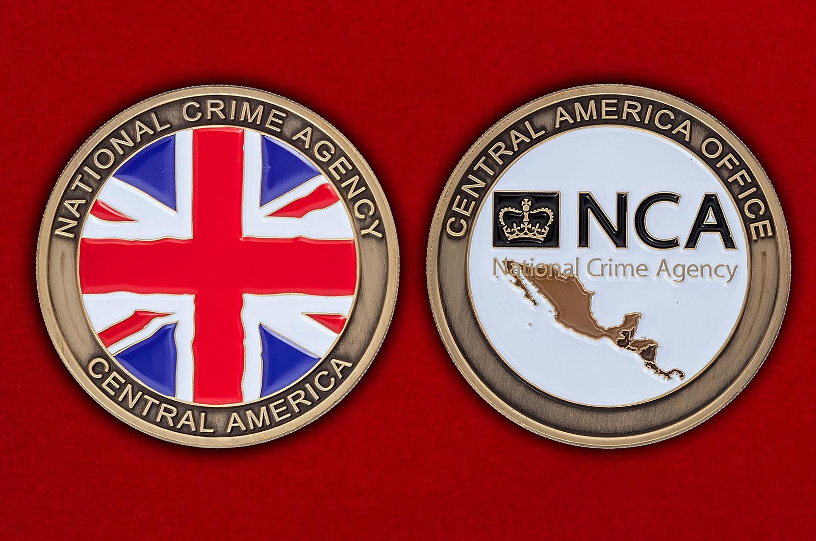 Челлендж коин офиса в Центральной Америке Национального агентства по борьбе с преступностью Великобритании