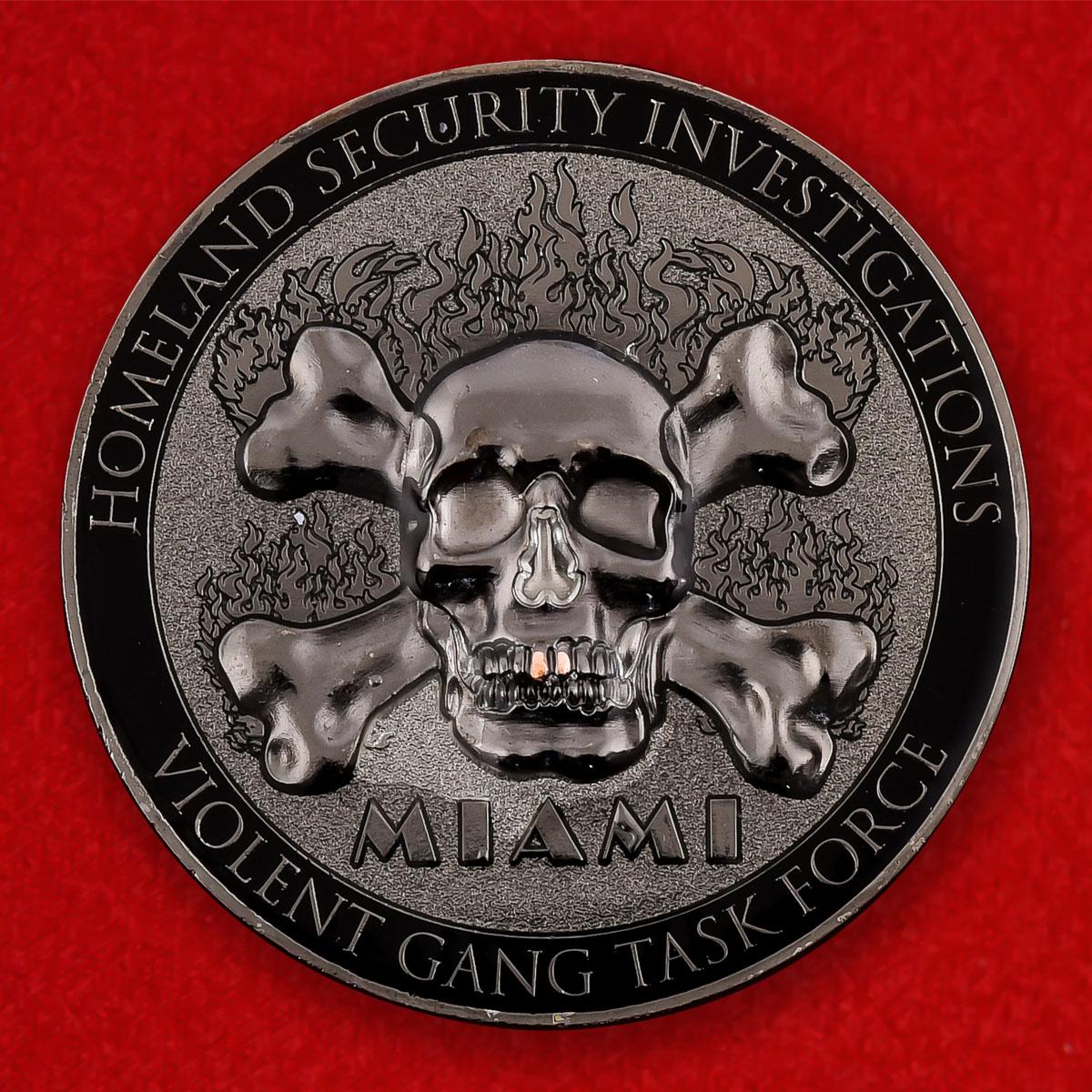 """Челлендж коин """"Оперативная группа по борьбе с особо опасными преступниками в Майами"""""""