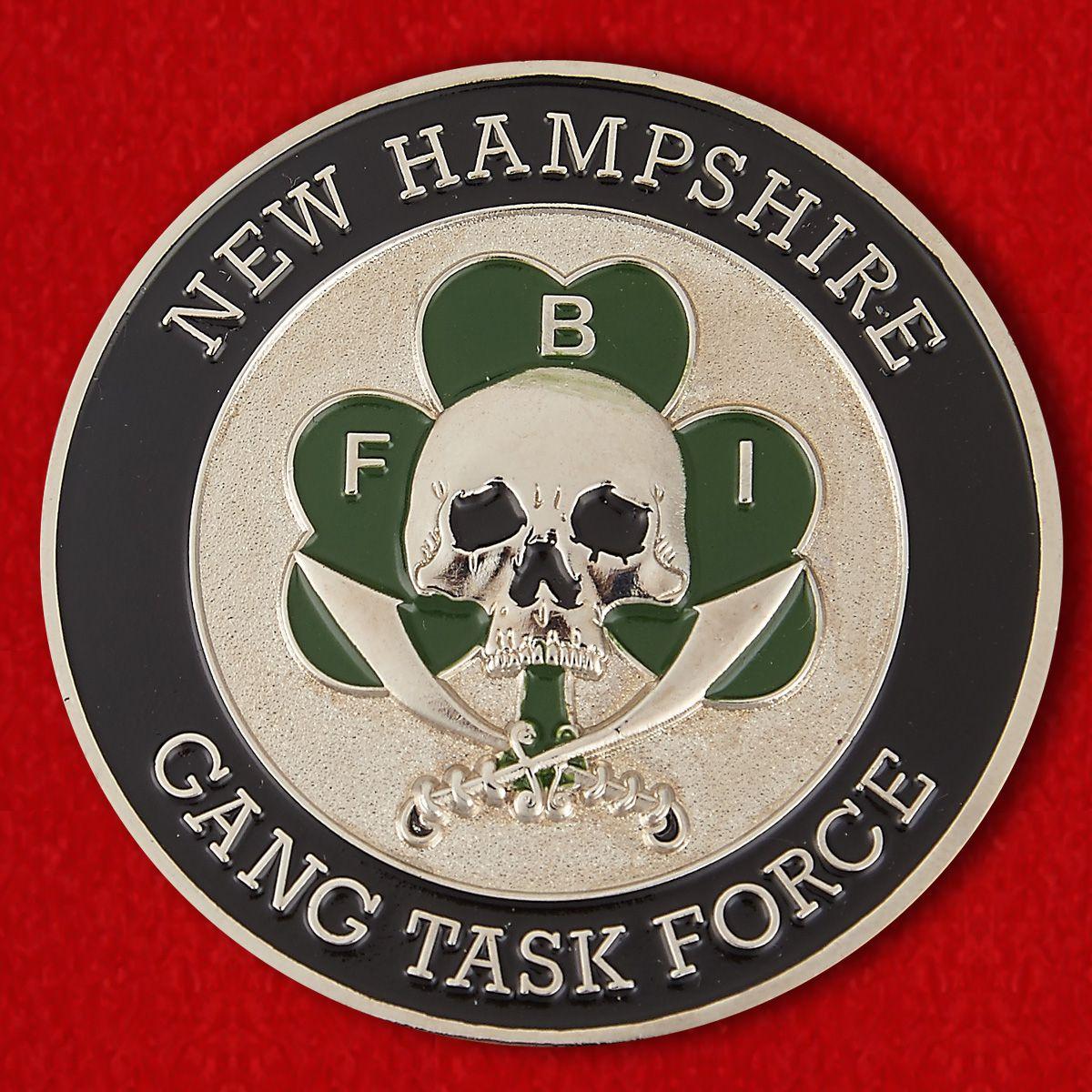 Челлендж коин оперативной группы ФБР в Нью-Гемпшире
