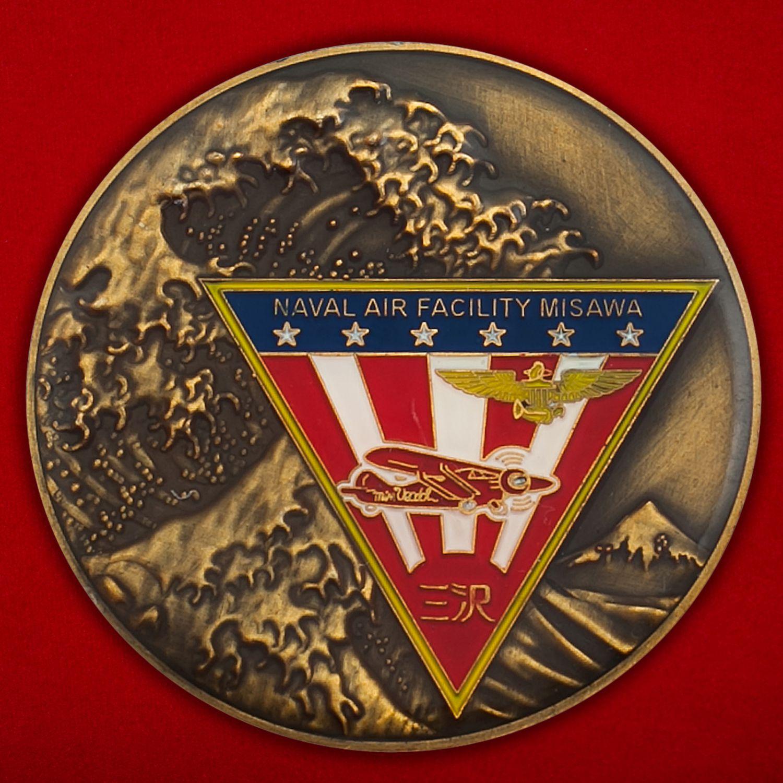 """Челлендж коин """"От Главнокомандующего авиабазы ВВС США Мисава капитана Кейта Генри"""""""