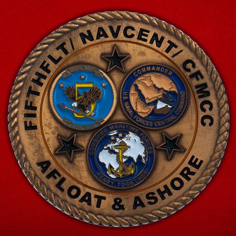"""Челлендж коин """"От капитана Джерри Кокса  Управления Генерального инспектора ВМС Центрального командования США (5-й Флот)"""