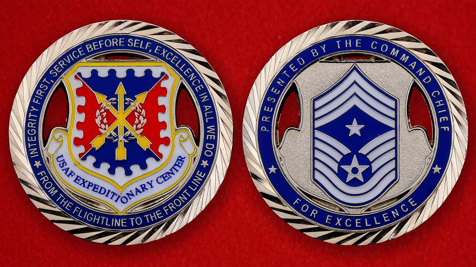 "Челлендж коин ""От командования Экспедиционного центра ВВС США"""