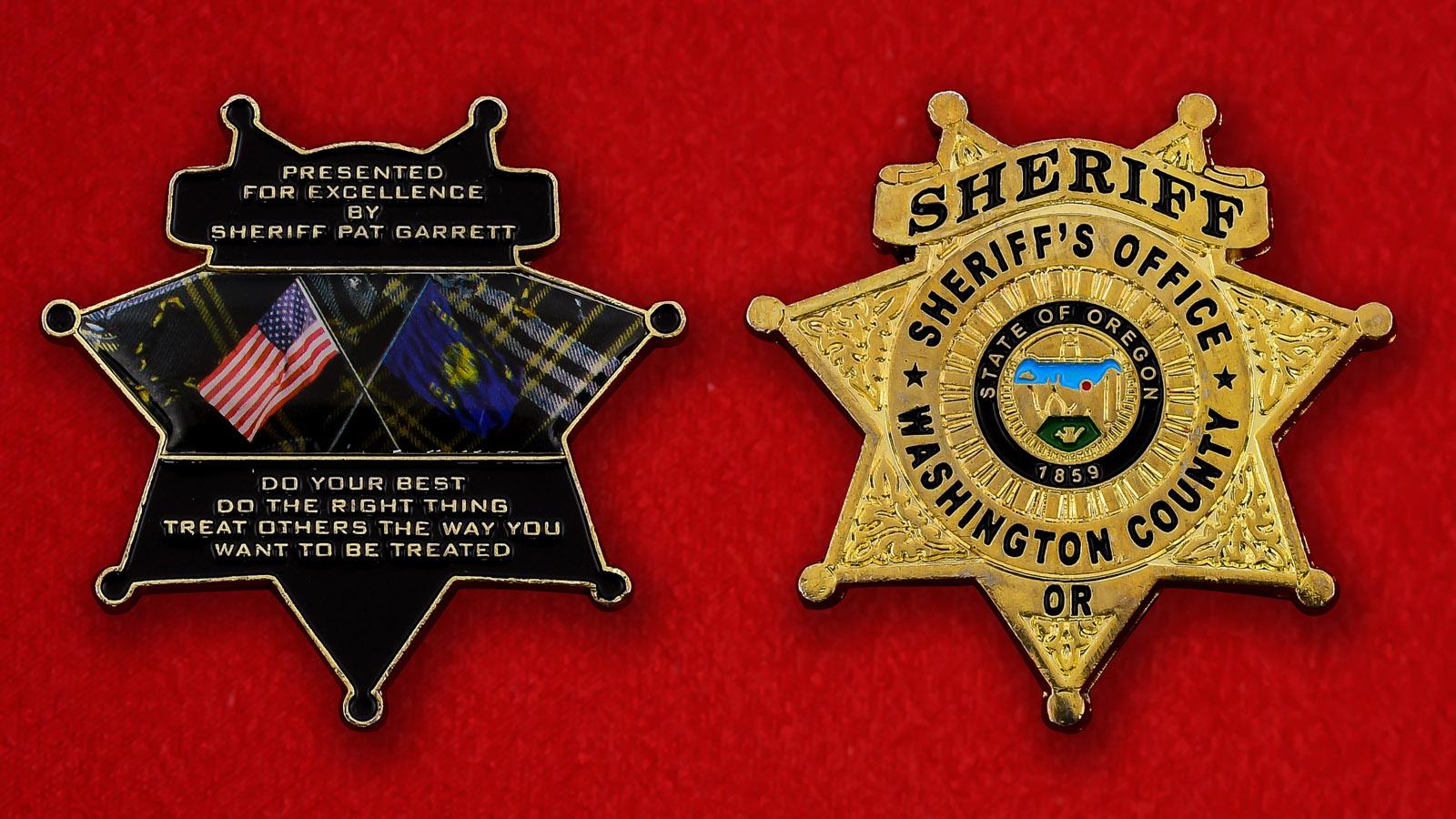 "Челлендж коин ""От шерифа округа Вашингтон Пэта Гарретта"""