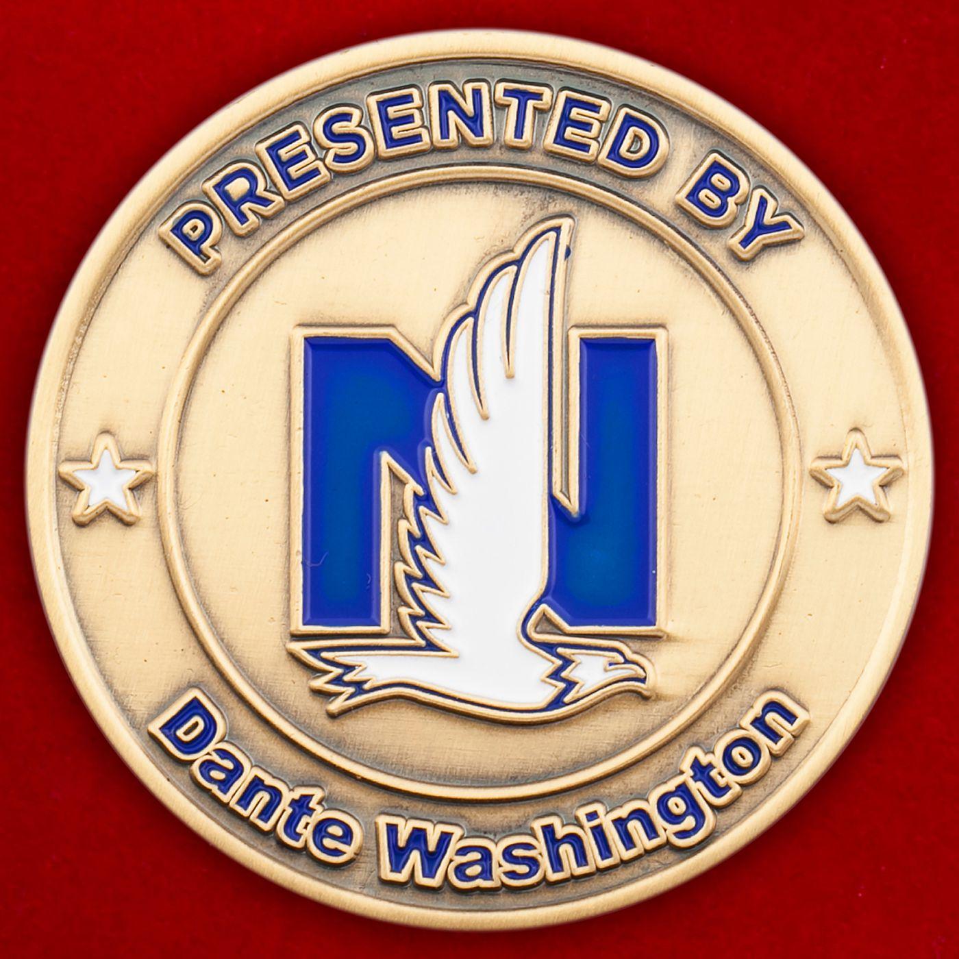 """Челлендж коин """"От старшего консультанта страховой компании Nationwide Insurance Данте Вашингтона"""""""