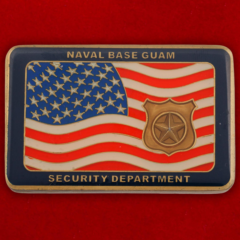 Челлендж коин Отдела безопасности базы ВМС США на Гуаме