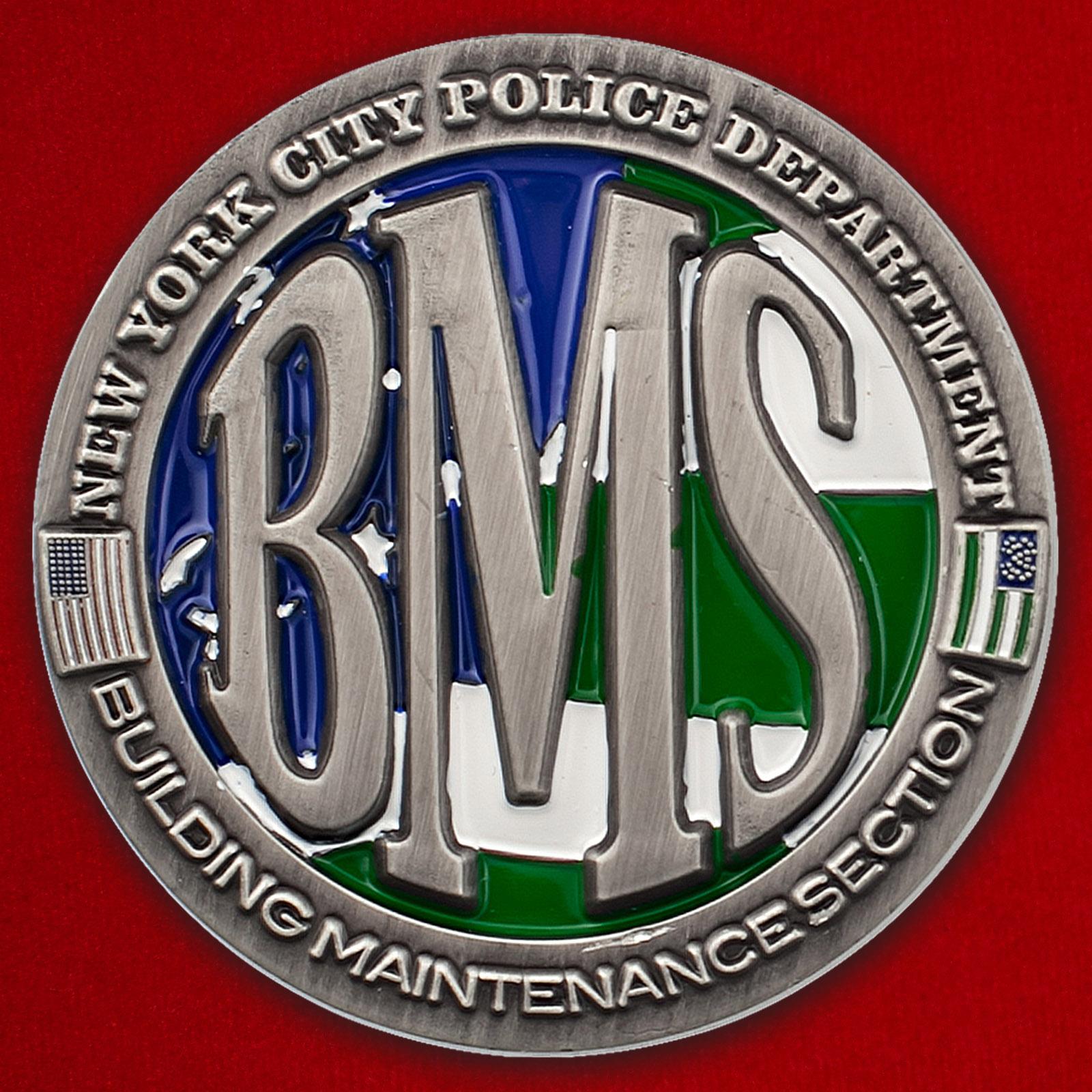 Челлендж коин отдела материально-технического обеспечения строительства Управления полиции Нью-Йорка