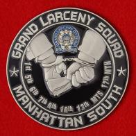 Челлендж коин отдела по борьбе с воровством департамента полиции Нью-Йорка