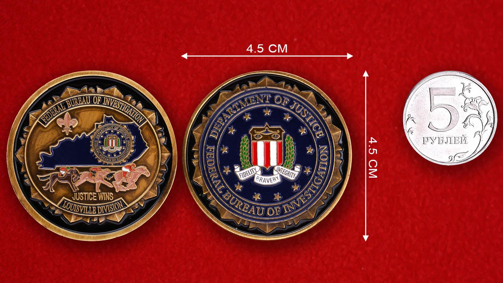 Челлендж коин отделения ФБР в Луисвилле