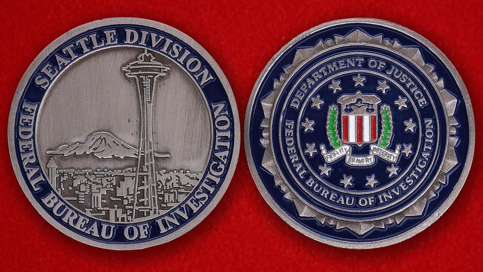 Челлендж коин Отделения ФБР в Сиэтле