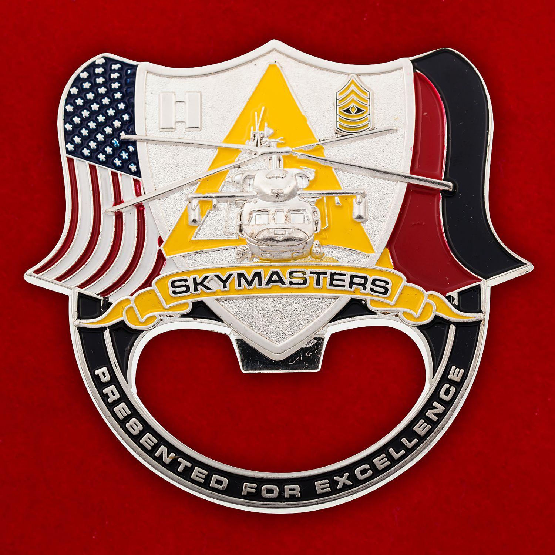 """Челлендж коин -открывалка """"1-й батальон 214-го авиационного полка армейской авиации США"""""""