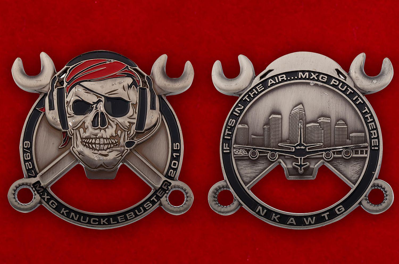 """Челлендж коин-открывалка """"6-я и 927-я группы технического обслуживания авиабазы ВВС США МакДилл"""" - аверс и реверс"""