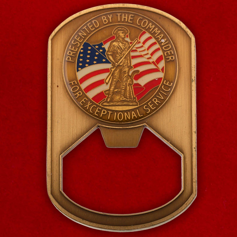 """Челлендж коин-открывалка """"66-й эскадрилье финансовой инспекции ВВС США от командования"""""""