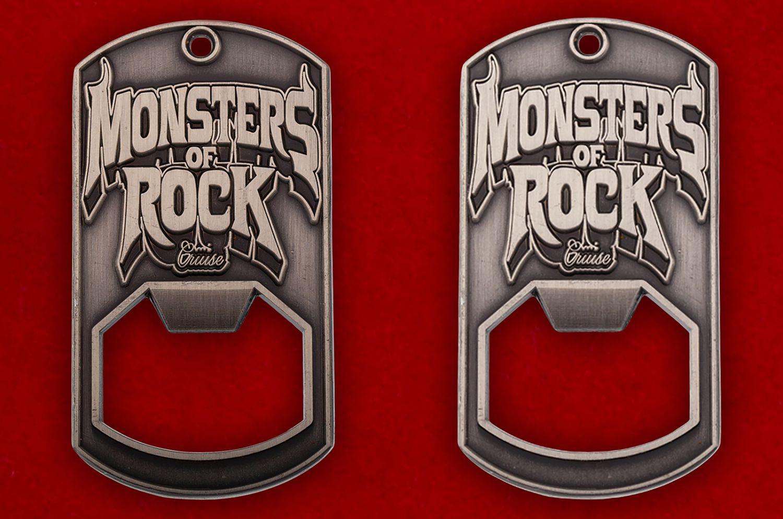 """Челлендж коин-открывалка """"Фестиваль Monsters of Rock"""" - аверс и реверс"""