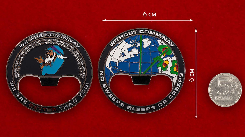"""Челлендж коин-открывалка """"Служба навигации воздушного движения"""" - сравнительный размер"""