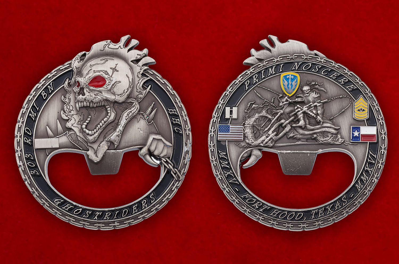 """Челлендж коин - открывашка """"303-й батальон Военной разведки Армии США"""" - аверс и реверс"""