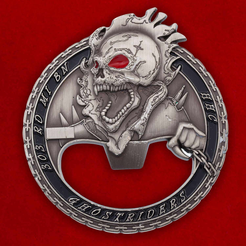 """Челлендж коин - открывашка """"303-й батальон Военной разведки Армии США"""""""