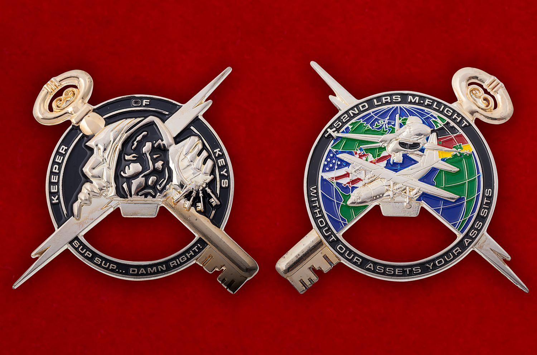 """Челлендж коин-открывашка """"52-я эскадрилья дозапавки в воздухе ВВС США"""" - аверс и реверс"""
