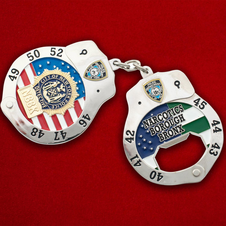 """Челлендж коин-открывашка """"Отдел по борьбе с наркотиками полиции Нью-Йорка, район Бронкса"""""""
