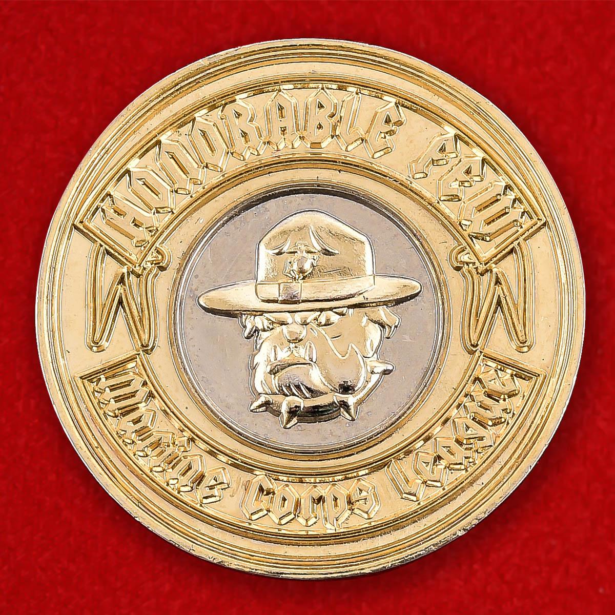 """Челлендж коин """"Почетный член Лиги Корпуса Морской пехоты США"""""""