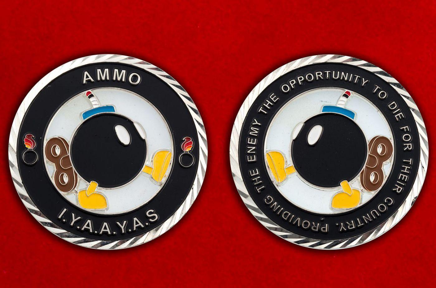 Челлендж коин подразделений Службы авиационного вооружения ВВС США - аверс и реверс