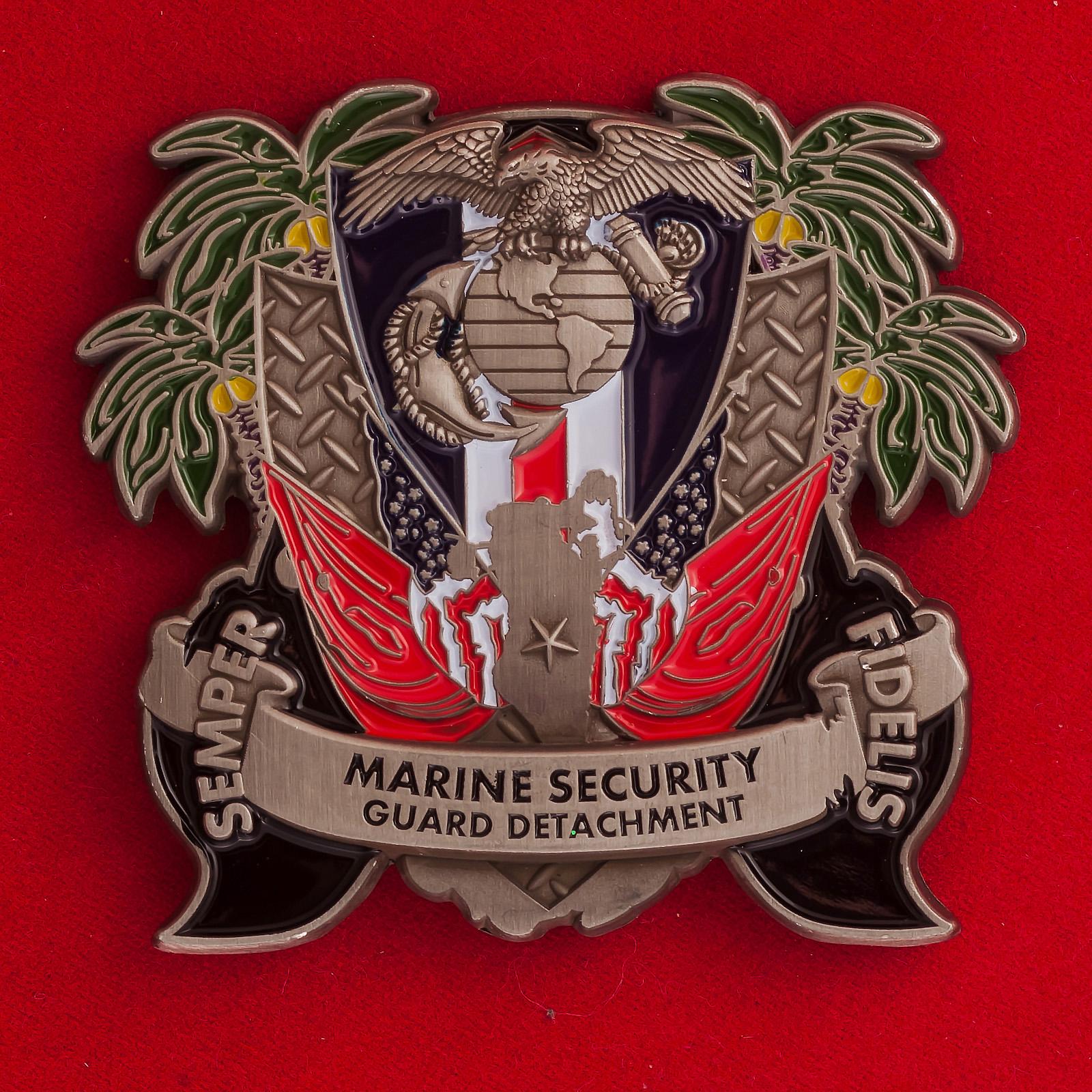 Челлендж коин Подразделения Корпуса Морской пехоты при посольстве США в Бахрейне
