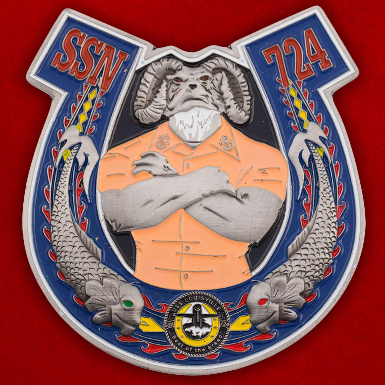 "Челлендж коин ""Подводная лодка USS Louisville (SSN-724) ВМС США"""