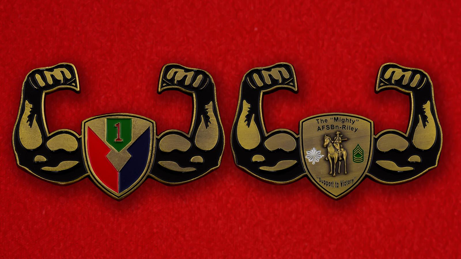 """Челлендж коин """"Полевой батальон обеспечения 1-й Пехотной дивизии армии США"""""""
