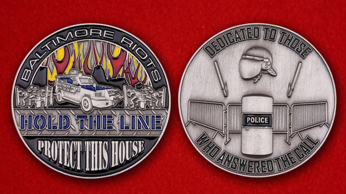 Челлендж коин полицейского спецназа Балтимора - аверс и реверс