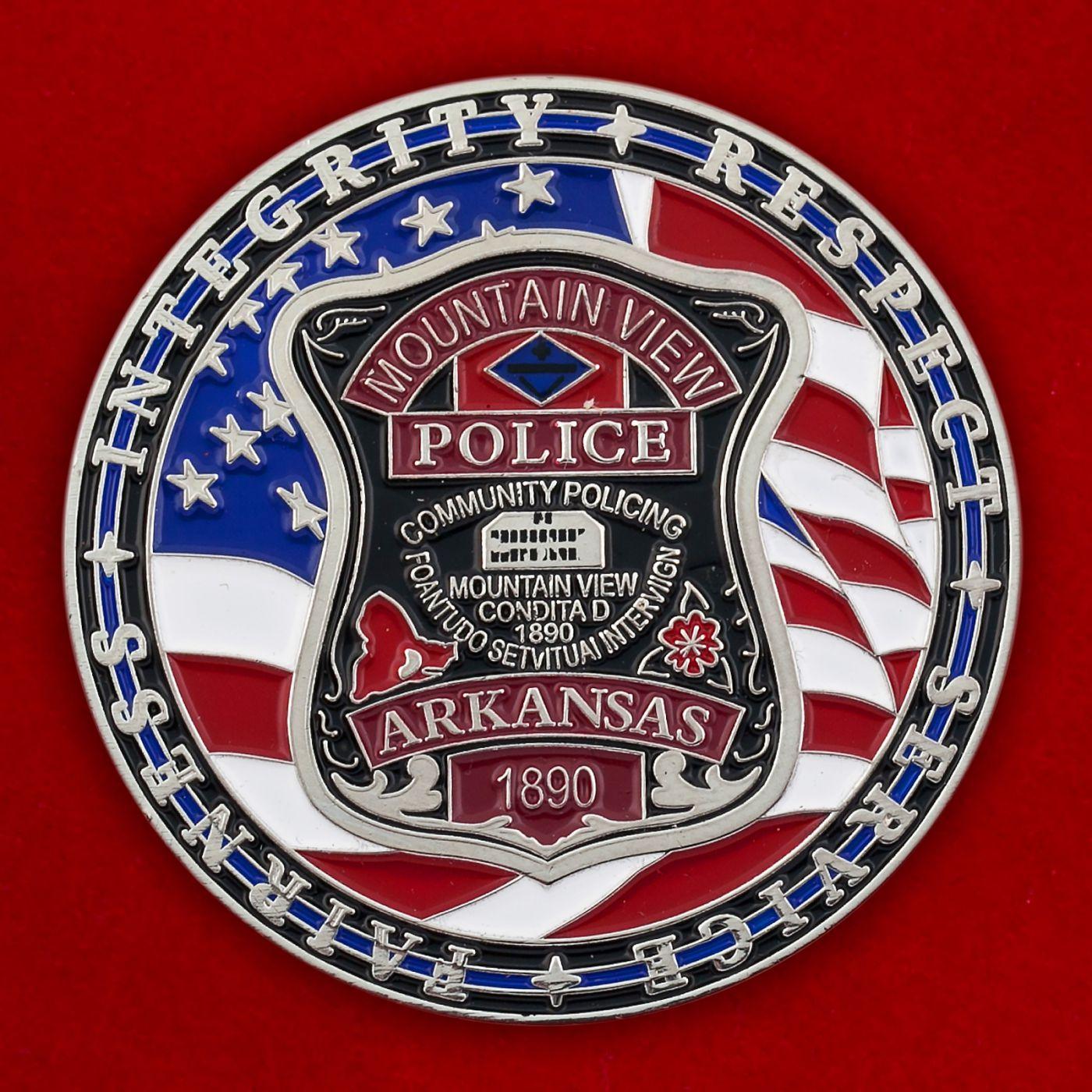 Челлендж коин полиции Маунтин-Вью, штат Арканзас