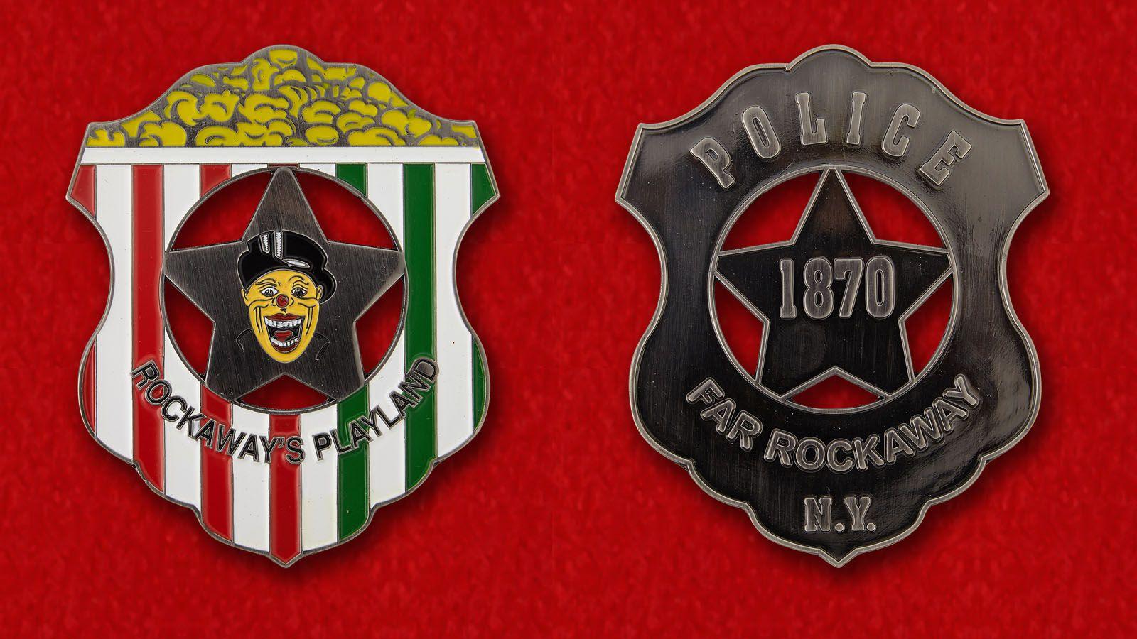 Челлендж коин полиции Плейленда, Рокуэй, Нью-Йорк - аверс и реверс